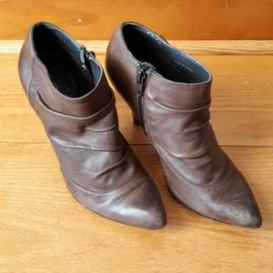 Aldo leather stiletto ankle boot